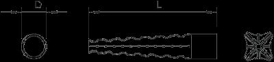 Схема Металлический распорный дюбель — арт.: 3484602