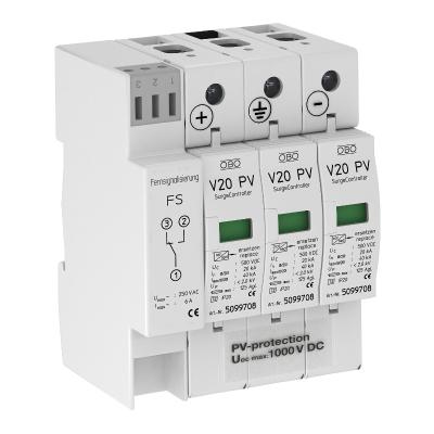 Разрядник для защиты от перенапряжений V20 для фотогальванических установок, 1000 В постоянного тока, с дистанционной сигнализацией — арт.: 5094574