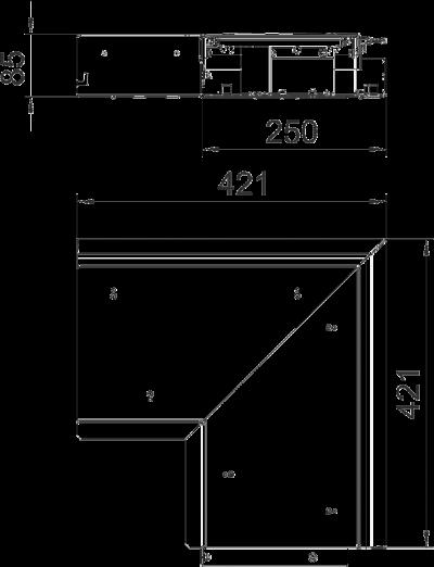 Схема Внутренний угол, без регулируемых опор — арт.: 7403826
