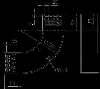 Схема Вертикальная угловая секция 90° восходящая — арт.: 7007310
