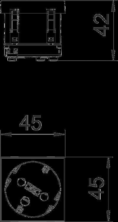 Схема Розетка 33° с защитным контактом, с кодом, одинарная — арт.: 6120302