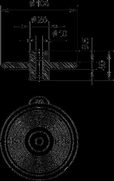 Схема Уплотнительная манжета для круглых проводников — арт.: 2360041