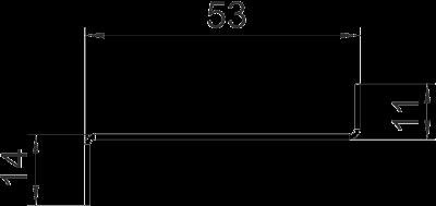 Схема Стальная разделительная перегородка для кабельного короба высотой 70 мм — арт.: 6277090