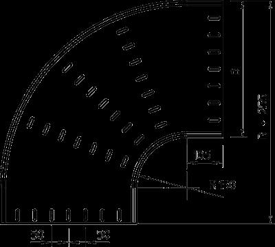 Схема Угловая секция 90° 400-600 мм — арт.: 7001819