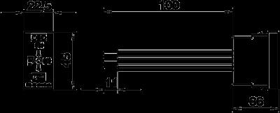 Схема Модуль для защиты от перенапряжений с акустической сигнализацией, ширина 1/2 модуля — арт.: 6117465