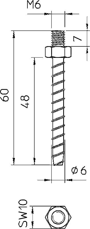Схема Огнестойкий винтовой анкер — арт.: 3498263
