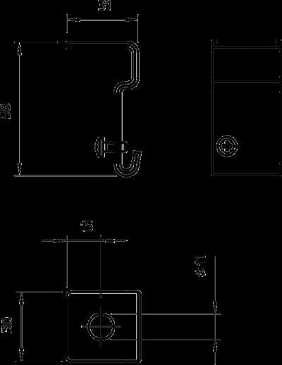 Схема Подвесной уголок для кабельного ввода — арт.: 6015336