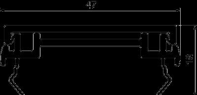 Схема Крышка кабельного короба Rapid 45-2 — арт.: 6112413