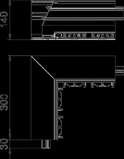 Схема Внутренний угол дизайнерского кабельного короба GAD — арт.: 6115795