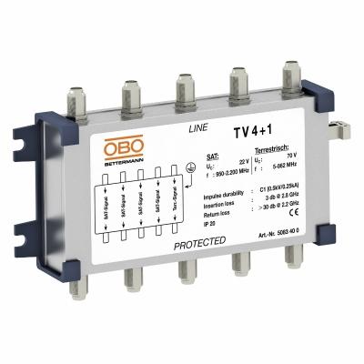 Коаксиальное устройство защиты для спутникового и кабельного многопозиционного переключателя — арт.: 5083400
