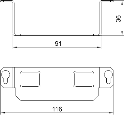 Схема Суппорт для 2х телекоммуникационных модулей типа C — арт.: 7407848