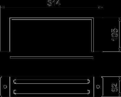 Схема Соединитель для огнестойкого металлического кабельного канала — арт.: 7216410