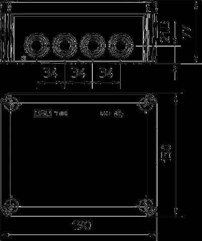Схема Распределительная коробка Т-160 со вставным уплотнителем — арт.: 2007093