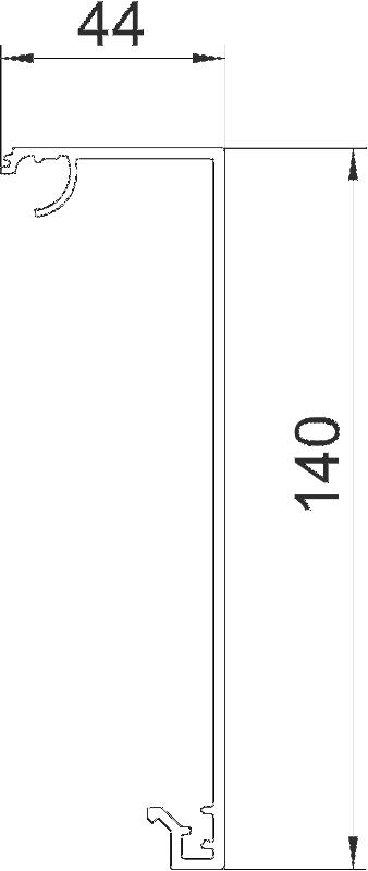 Схема Крышка Style для дизайнерского кабельного короба GAD — арт.: 6115845