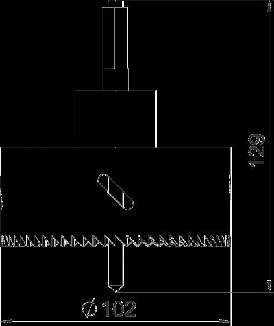 Схема Ножовка для выпиливания отверстия для вертикального настольного бокса DBV — арт.: 6116994