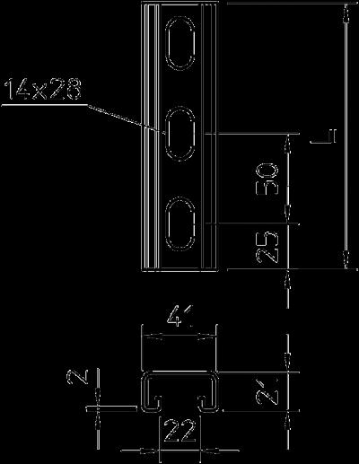 Схема Профильная рейка — арт.: 1122933