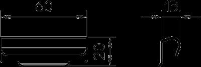 Схема Соединитель для разделительной полочки — арт.: 6067970