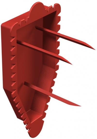 Красная сигнальная крышка коробки для подключения настенных светильников — арт.: 2003325