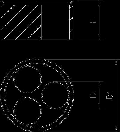 Схема Универсальный уплотнитель, метрический — арт.: 2029672