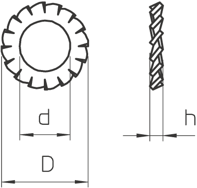 Схема Стопорная шайба — арт.: 3404064