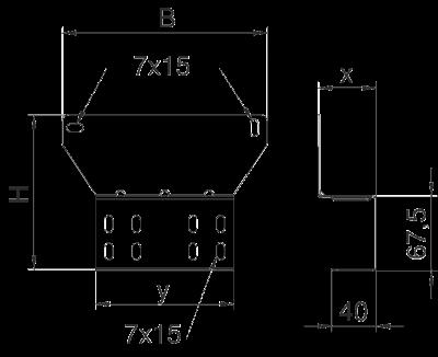 Схема Монтажная пластина для огнестойких распределительных коробок FireBox T-серии — арт.: 7205480