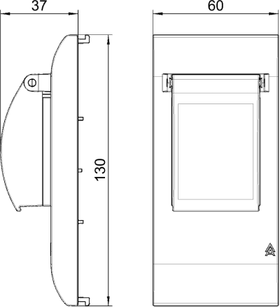 Схема Накладка для монтажа 2х защитных устройств — арт.: 6109932