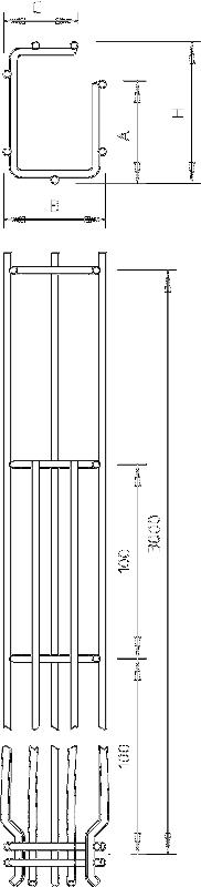 Схема G-образный проволочный лоток GR-Magic° с боковой стенкой высотой 75 мм — арт.: 6005553