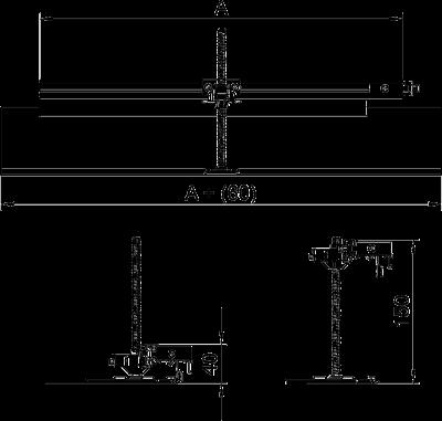 Схема Комплект для углового ответвления кабельного канала направо, высота 40 — 150 мм — арт.: 7423970