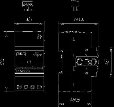 Схема Разрядник для защиты от перенапряжений V10 Compact, с дистанционной сигнализацией — арт.: 5093382