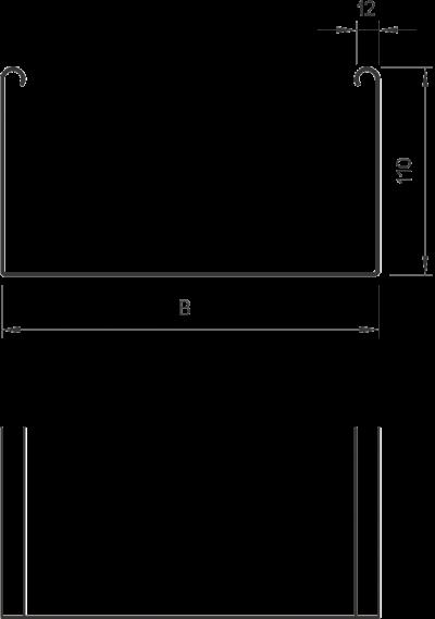 Схема Листовой кабельный лоток SKSU неперфорированный — арт.: 6063403