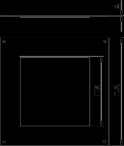 Схема Крышка монтажного основания 350-3 с отверстием для лючка GES9 — арт.: 7400513