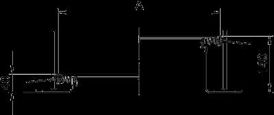 Схема Секция кабельного канала глухая, с фиксаторами, высота 40 — 140 мм — арт.: 7424040
