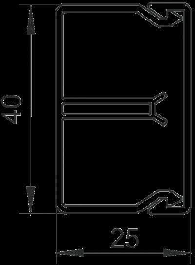 Схема Кабельный короб WDK-N 25040 — арт.: 6150640