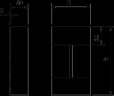 Схема Торцевая заглушка, класс огнестойкости I120/E90, для кабельного канала с внутренней высотой 105 мм — арт.: 7215276