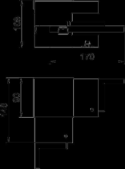 Схема Внутренний угол для кабельного короба высотой 90 мм — арт.: 6277140