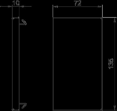 Схема Торцевая заглушка для кабельного короба высотой 70 мм — арт.: 6277270