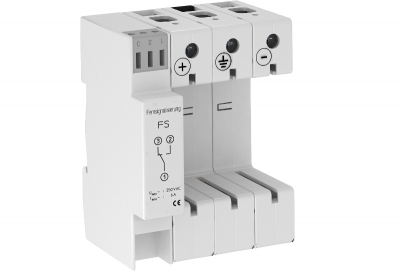 Основание разрядника для фотогальванический установок, 3-полюсное, Y-образная схема подключения, с дистанционной сигнализацией — арт.: 5096646