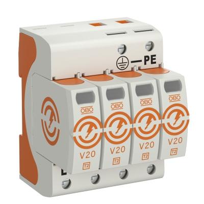 Разрядник для защиты от перенапряжений V20 4-полюсный, 280 В — арт.: 5095164