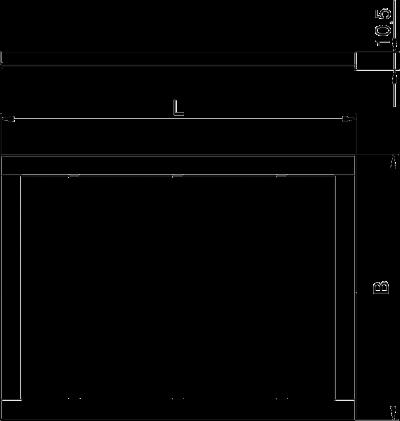 Схема Декоративная рамка Modalnet для монтажа в полую стену, для 3х двойных розеток — арт.: 6109936