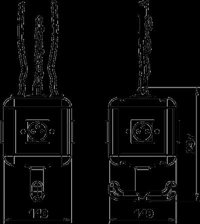 Схема Блок питания VH-4, с 4 розетками с заземляющим стержнем — арт.: 6109806