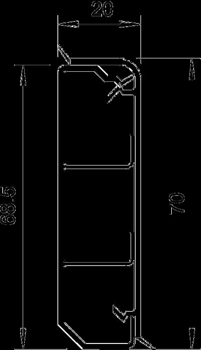 Схема Плинтусный кабельный короб SKL 70 D — арт.: 6199202
