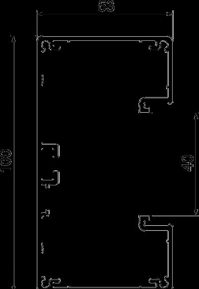 Схема Алюминиевый кабельный короб Rapid 45-2, GA-53100 — арт.: 6112403