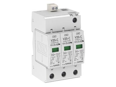 Разрядник для защиты от перенапряжений 3-полюсный, с дистанционной сигнализацией — арт.: 5094780