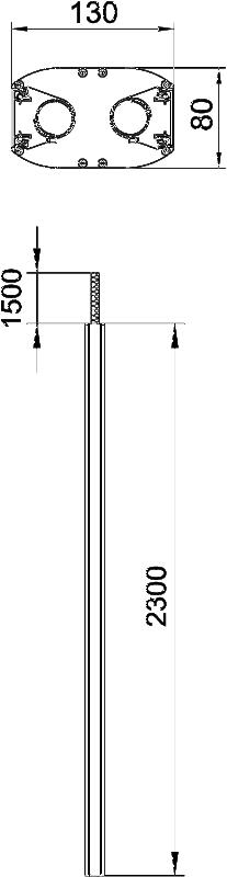 Схема Алюминиевая электромонтажная колонна ISSDM45F — арт.: 6289974