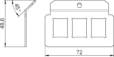 Схема Суппорт для 3х телекоммуникационных модулей типа C — арт.: 7407828