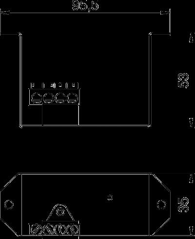 Схема Суппорт с клеммной колодкой PE для монтажа защитного устройства в блоках питания VHF — арт.: 6109852