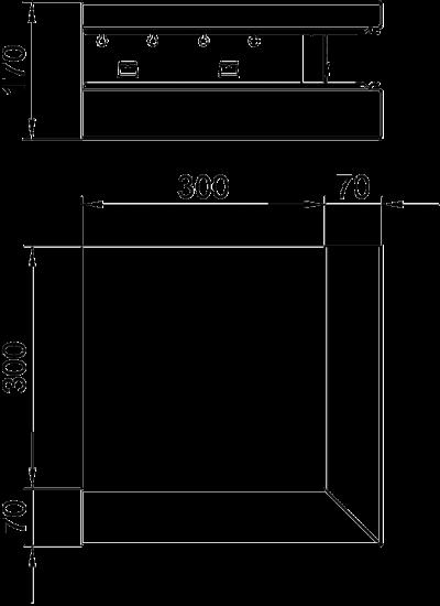 Схема Внешний угол для кабельного короба высотой 70 мм — арт.: 6277810
