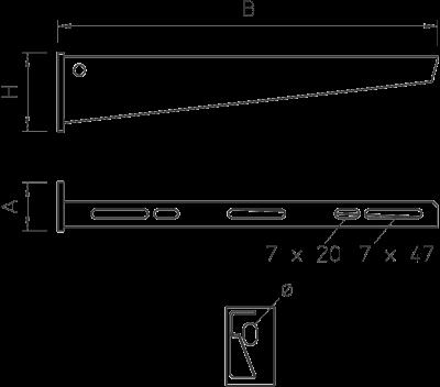 Схема Настенный и опорный кронштейн AW 15 — арт.: 6420664