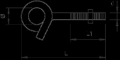 Схема Потолочный крюк 948 TG6 — арт.: 3453820
