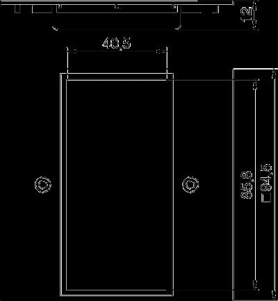 Схема Плата VH для двойной розетки Modul 45® — арт.: 6109835